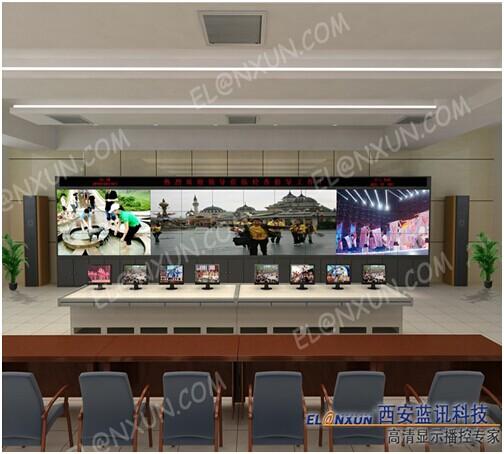大型企业监控室部署西安蓝讯液晶拼接大屏系统