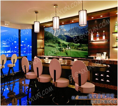 西安某酒吧大屏展示系统采用西安蓝讯大屏幕拼接系统