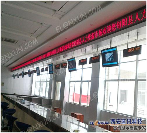 旬阳人事和劳动社会保障局西安蓝讯多媒体信息发布系统助力