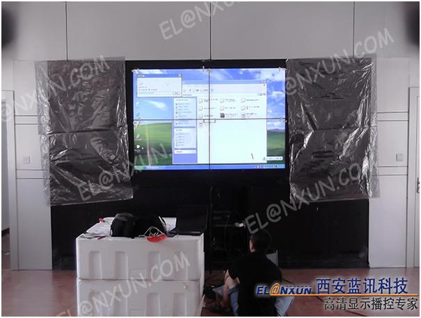 西安市公交公司调度中心部署西安蓝讯液晶大屏幕拼接系统