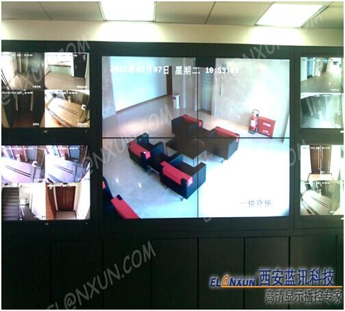 兰州供电公司监控系统部署西安蓝讯液晶大屏幕监控系统