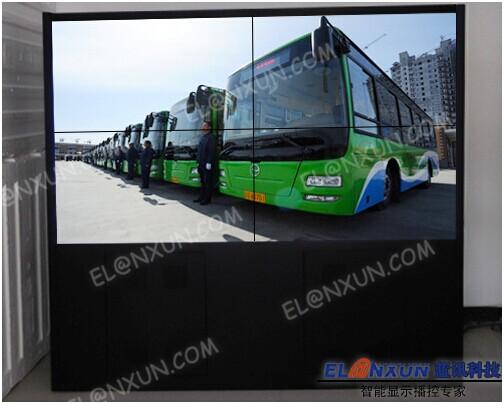 延安智能公交调度中心启用西安蓝讯液晶拼接屏系统