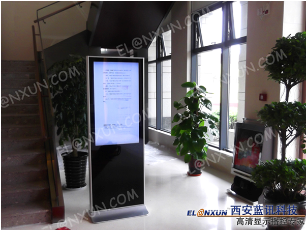 中国建筑股份有限公司启用西安蓝讯高清广告机
