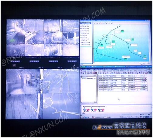 秦鼎矿业有限责任公司采用西安蓝讯液晶大屏幕拼接系统
