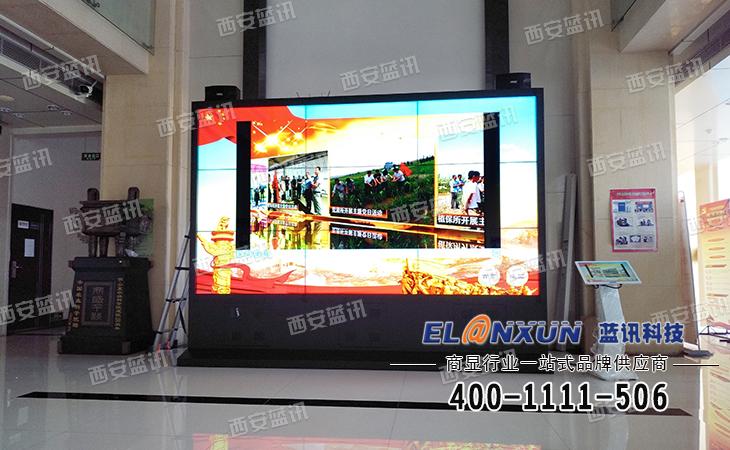 宁夏农科院部署西安蓝讯1.8拼缝液晶拼接屏触摸互动系统