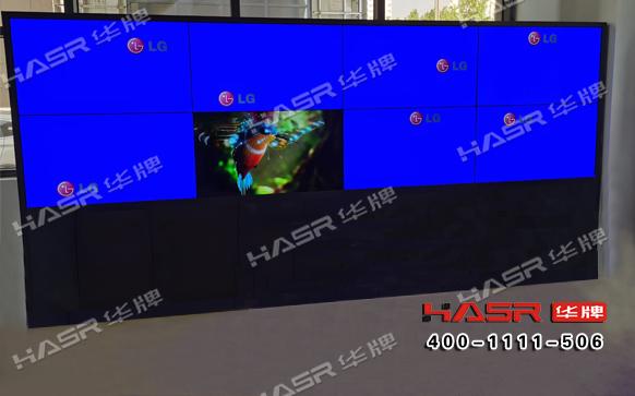 华牌49寸液晶拼接屏助力宝鸡小区监控系统项目